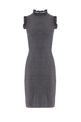 Grey Spring Ruffle Dress by Rebecca Taylor