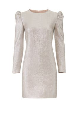 Silver Metallic Millie Dress by Rachel Zoe