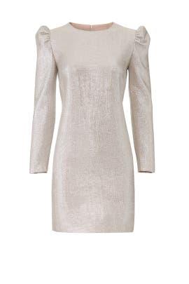 Silver Metallic Millie Dress by Rachel Zoe