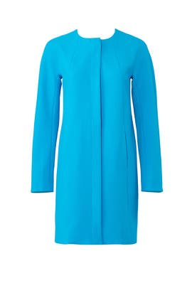 Blue Wool Coat by Shoshanna
