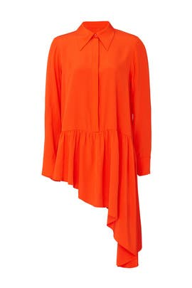 Asymmetrical Ruffle Blouse by Tibi