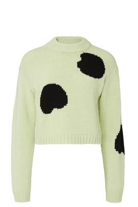 Polka Dot Intarsia Sweater by Tibi