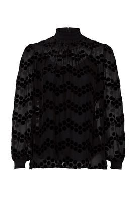 Velvet Devore Dot Embroidered Top by Tory Burch