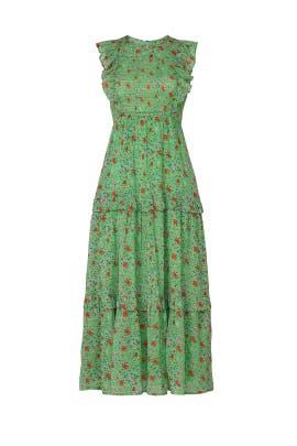 Green Iris Dress by Banjanan