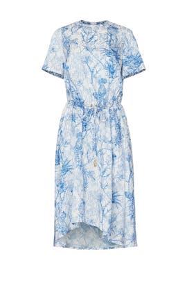 Printed Drawstring Dress by Cedric Charlier