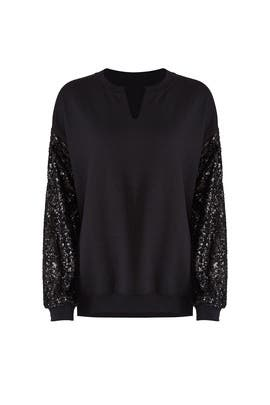 Sequin Sleeve Sweatshirt by JET John Eshaya