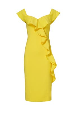 Yellow Gatlin Dress by Jay Godfrey