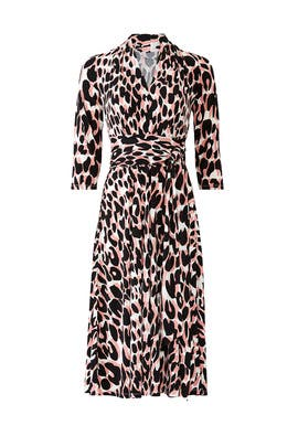 Mahlia Leopard Wrap Dress by Leota