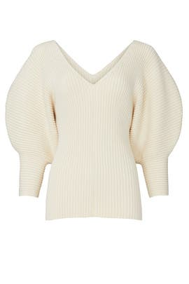 Cream Olia Sweater by Mara Hoffman