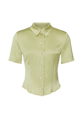Green Clare Shirt by Nanushka