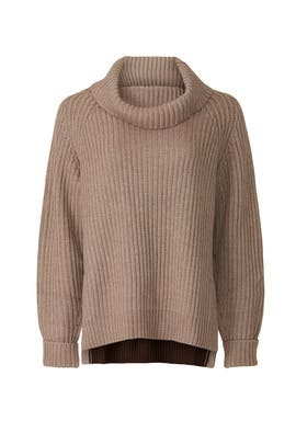 Brown Turtleneck Sweater by Peter Som Collective