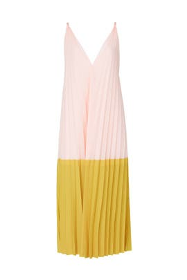 Pleated Two Tiered Dress by Tome