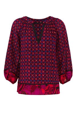 Floral Chavez Top by Trina Turk