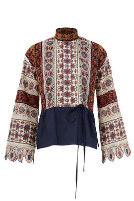 Carina Embroidered Top by Tory Burch