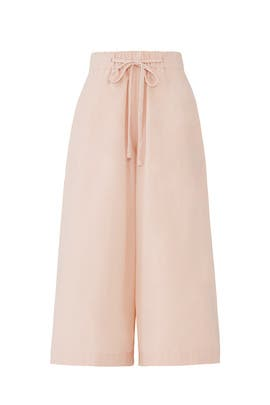 Pink Side Slit Culottes by VINCE.