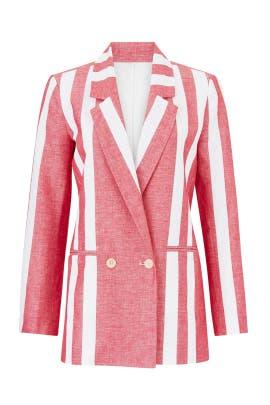 Retro Stripe Blazer by Badgley Mischka