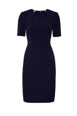 Navy Star Neckline Sheath by Badgley Mischka