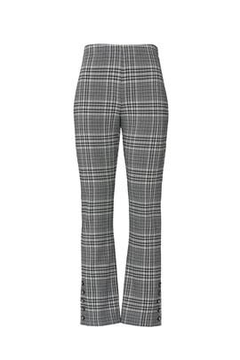 Plaid Button Up Hem Pants by Fifteen Twenty