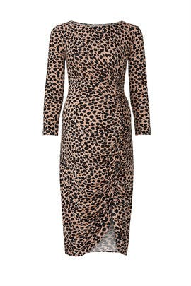 Leopard Maternity Dress by Ingrid & Isabel