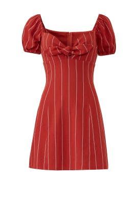 Striped Tie Front Mini Dress by J.O.A.