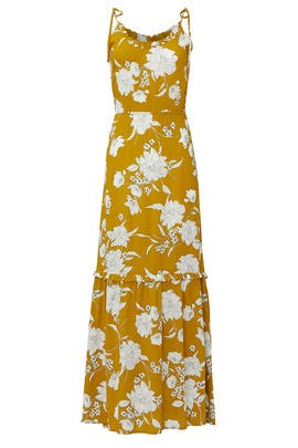 Mustard Floral Maxi by Louna
