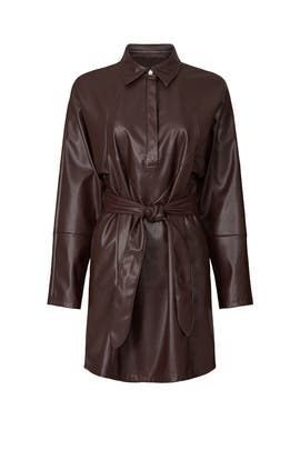 Faux Leather Shirtdress by Marissa Webb Collective