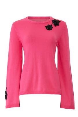 Pink Embellished Sweater by Prabal Gurung Collective