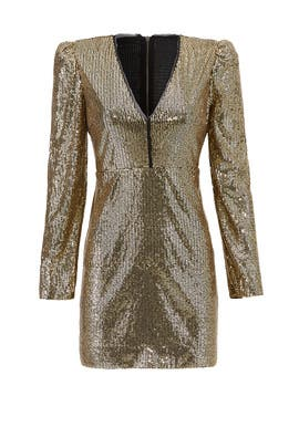 Gold Sequin Sydney Dress by Rebecca Minkoff