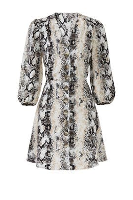 Python Button Front Dress by Slate & Willow