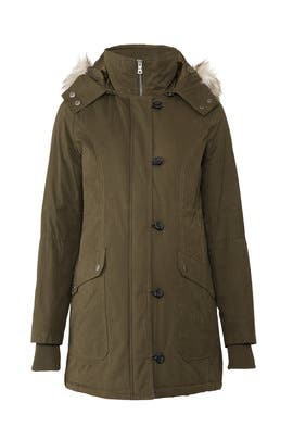 Olive Quilted Maternity Parka by A Pea in the Pod