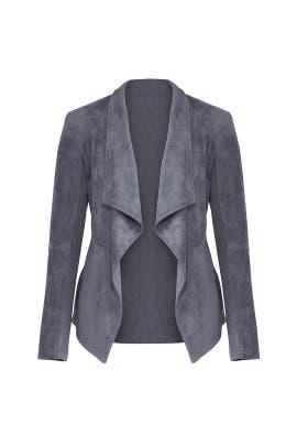 Grey Faux Suede Jacket by BB Dakota