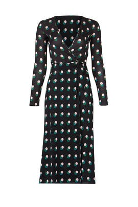Casimir Dot Wrap Dress by Diane von Furstenberg