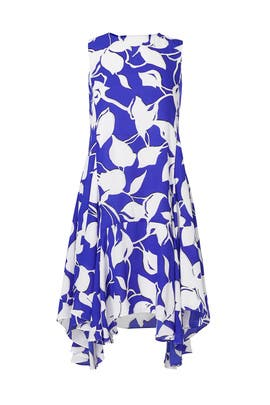 Cobalt Floral Swing Dress by Julia Jordan