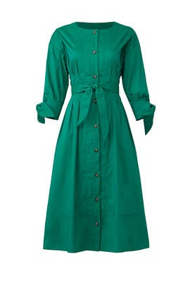 Emerald Shirtdress by Jason Wu