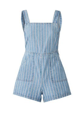 Draw The Line Denim Romper by MINKPINK