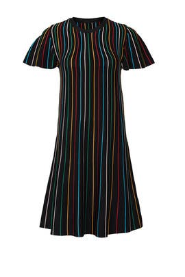 Black Stripe Shift by RED Valentino