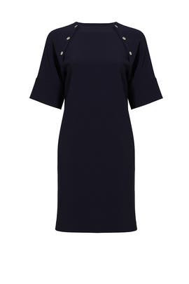 Navy Athrina Admiral Shift Dress by Theory