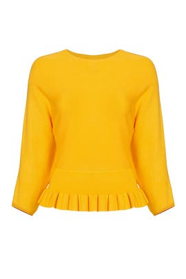 Marigold Peplum Sweater by English Factory