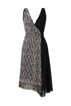Geo Faux Wrap Dress by Fuzzi