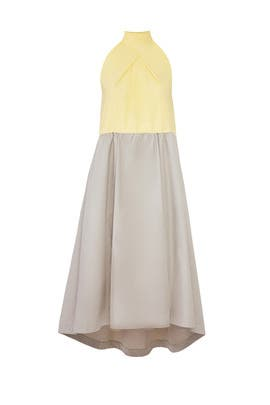 Colorblock Halter Dress by Jil Sander Navy