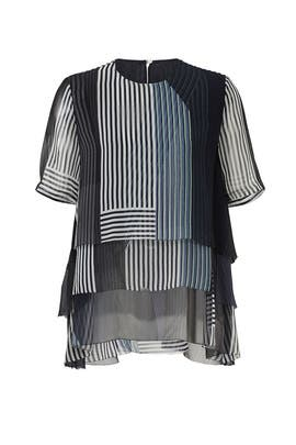 Collage Stripe Top by Jason Wu