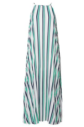 Striped Cruz Pleat Dress by Line + Dot