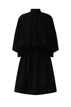 Collared Blouson Dress by Mossi