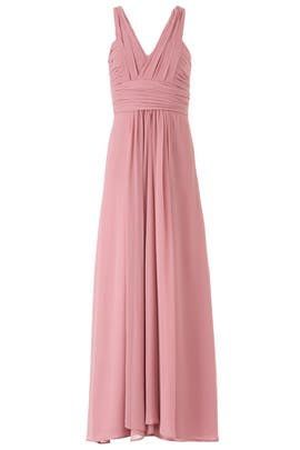 Cerise Rebecca Gown by Monique Lhuillier Bridesmaid