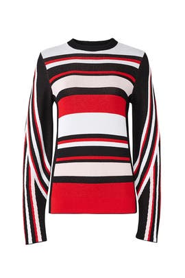 Horizontal Stripe Sweater by MSGM
