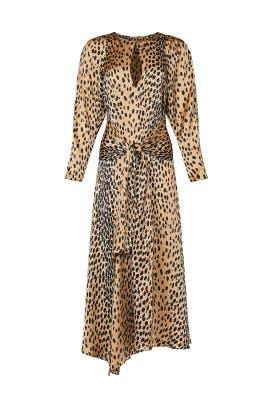 Long Sleeve Leopard Tie Dress by Rebecca Taylor