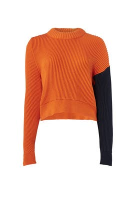 Orange Knit Sweater by Cedric Charlier