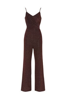 Rose Gold Shimmer Jumpsuit by Donna Morgan