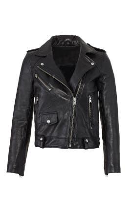 Black Ebeyna Leather Jacket by Iro