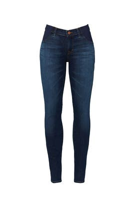 835 Mid Rise Crop Skinny Maternity Jeans by J BRAND